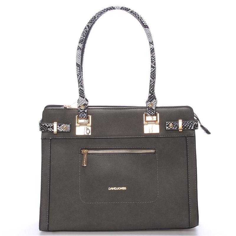 Dámská kabelka přes rameno tmavě šedá - David Jones Vignette