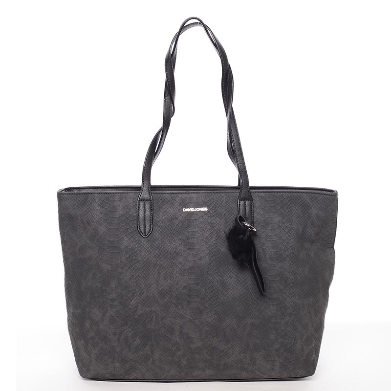 Originální velká dámská kabelka přes rameno černá - David Jones Ilona