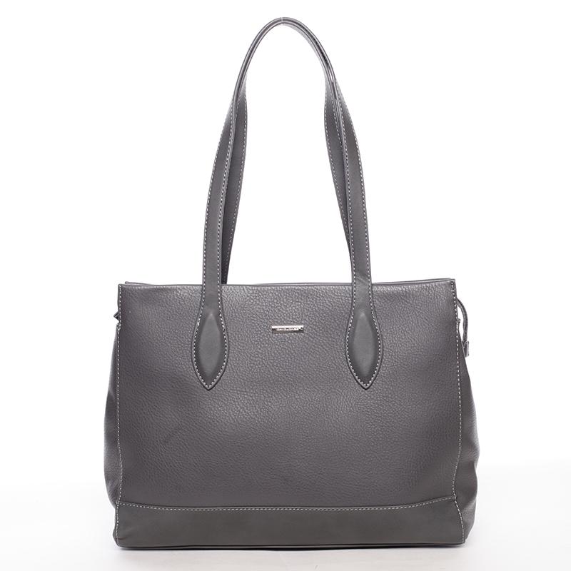 Větší elegantní dámská kabelka přes rameno tmavě šedá - David Jones Myanmar