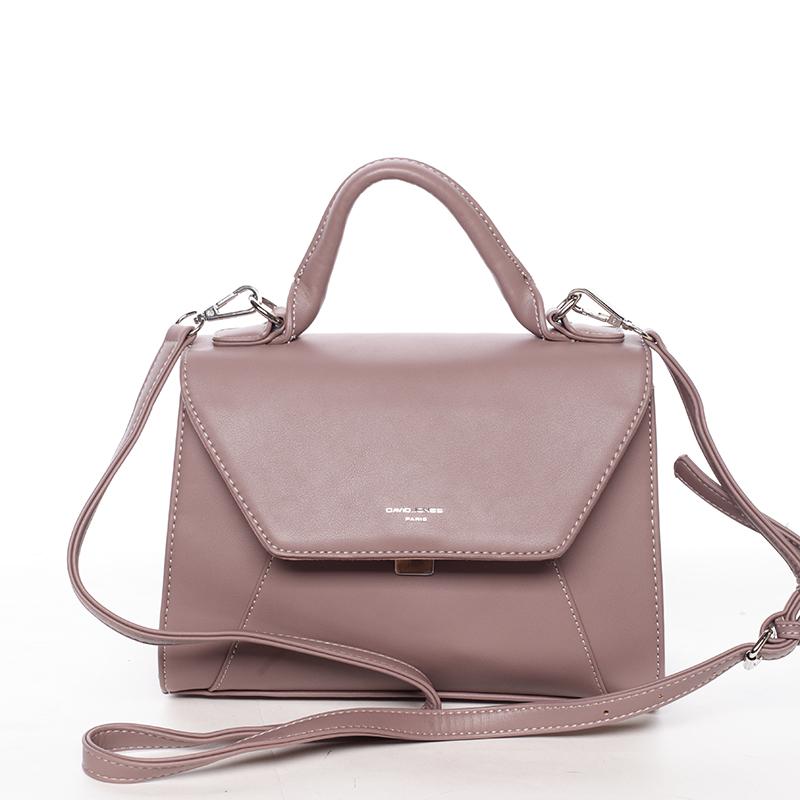 Elegantní dámská kabelka do ruky tmavě růžová - David Jones Sukaw