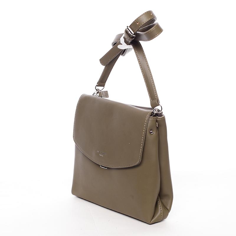 Dámská crossbody kabelka khaki - David Jones Ankara