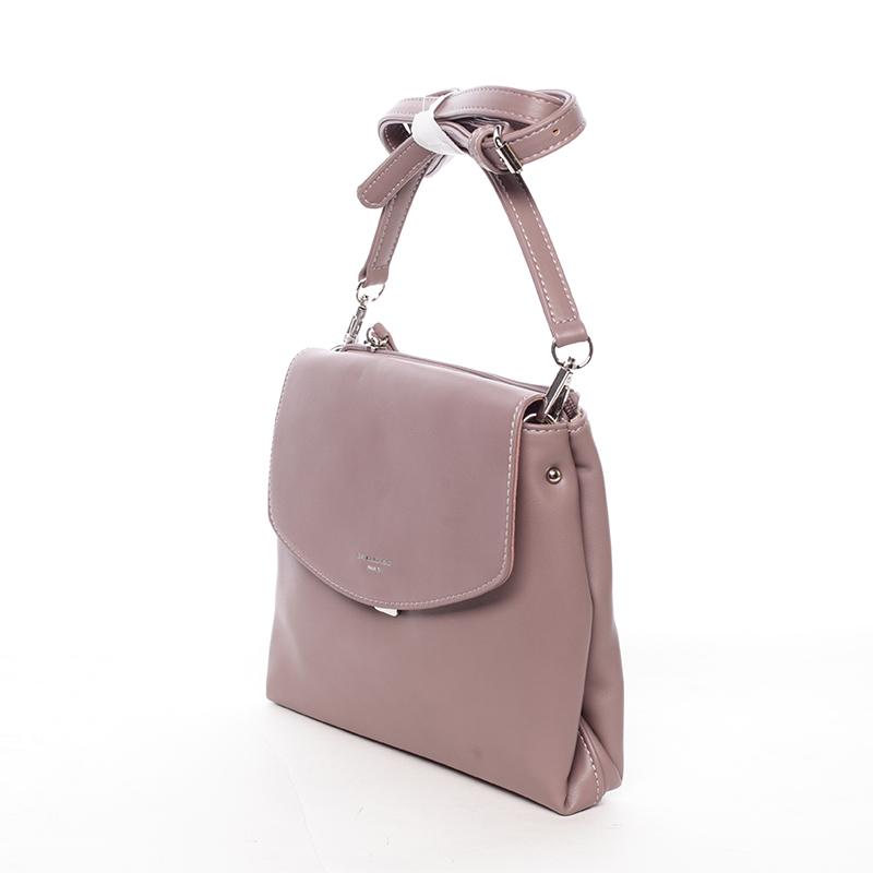 Dámská crossbody kabelka tmavá růžová - David Jones Ankara
