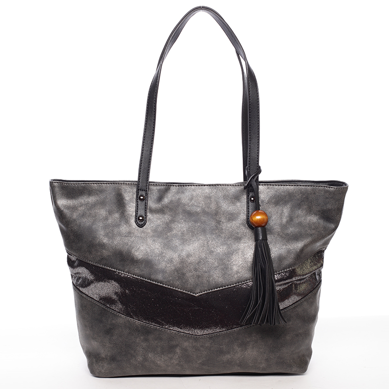 Velká módní trendy kabelka přes rameno černá  - David Jones Chetona