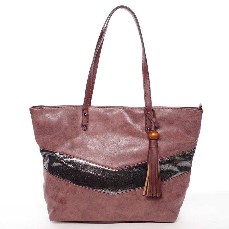 Velká módní trendy kabelka přes rameno vínová - David Jones Chetona