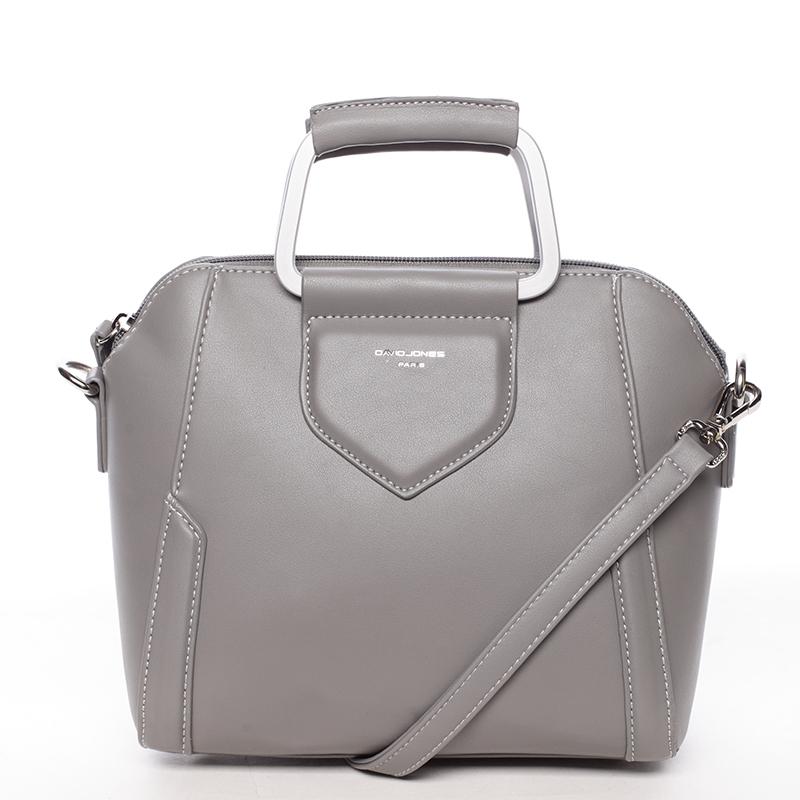 Exkluzivní menší dámská kabelka do ruky šedá - David Jones Ezuria