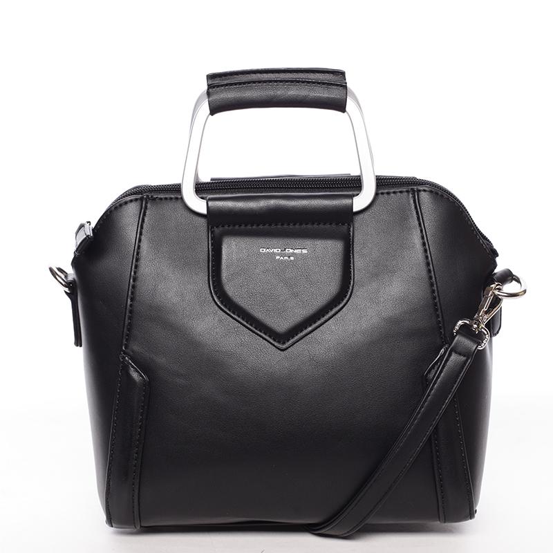 Exkluzivní menší dámská kabelka do ruky černá - David Jones Ezuria