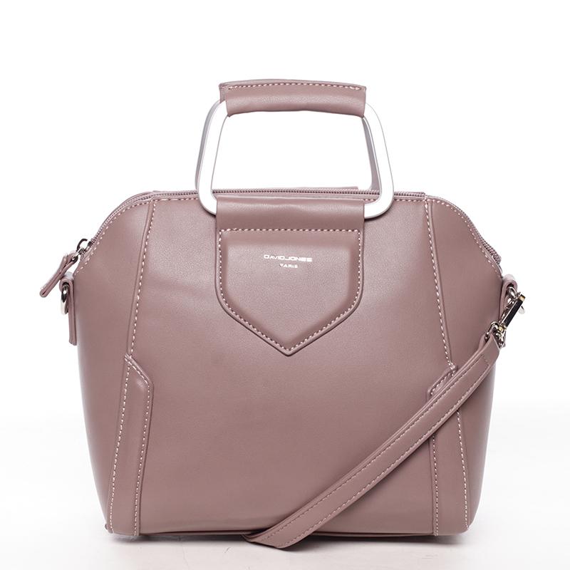 Exkluzivní menší dámská kabelka do ruky tmavě růžová - David Jones Ezuria
