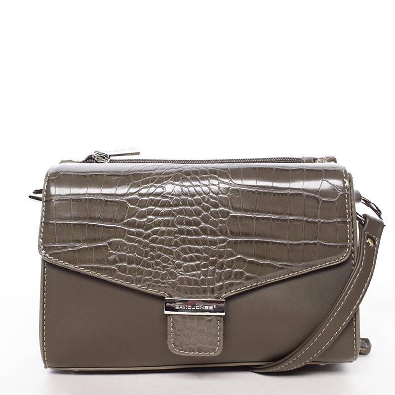 Luxusní dámská crossbody kabelka khaki - David Jones Hebbi