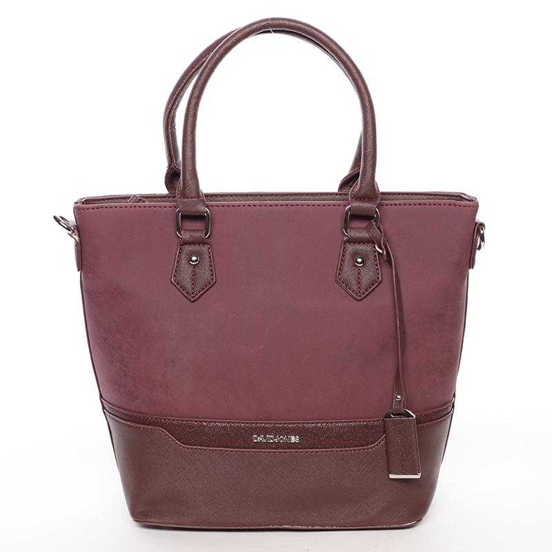 Trendy dámská kabelka do ruky vínová - David Jones Teherra