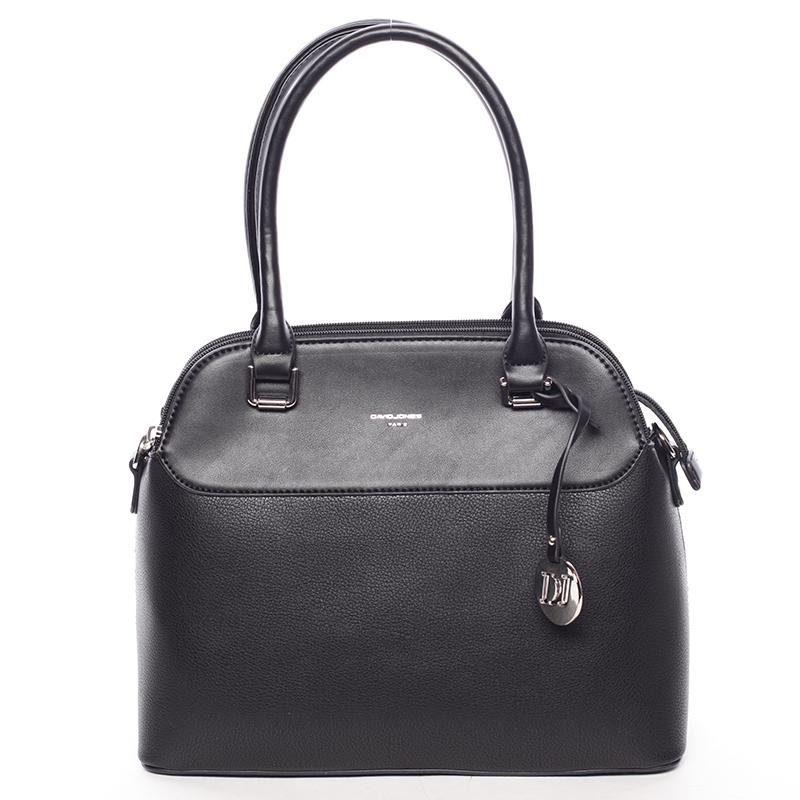 Originální jemná dámská kabelka do ruky černá - David Jones Tilianna