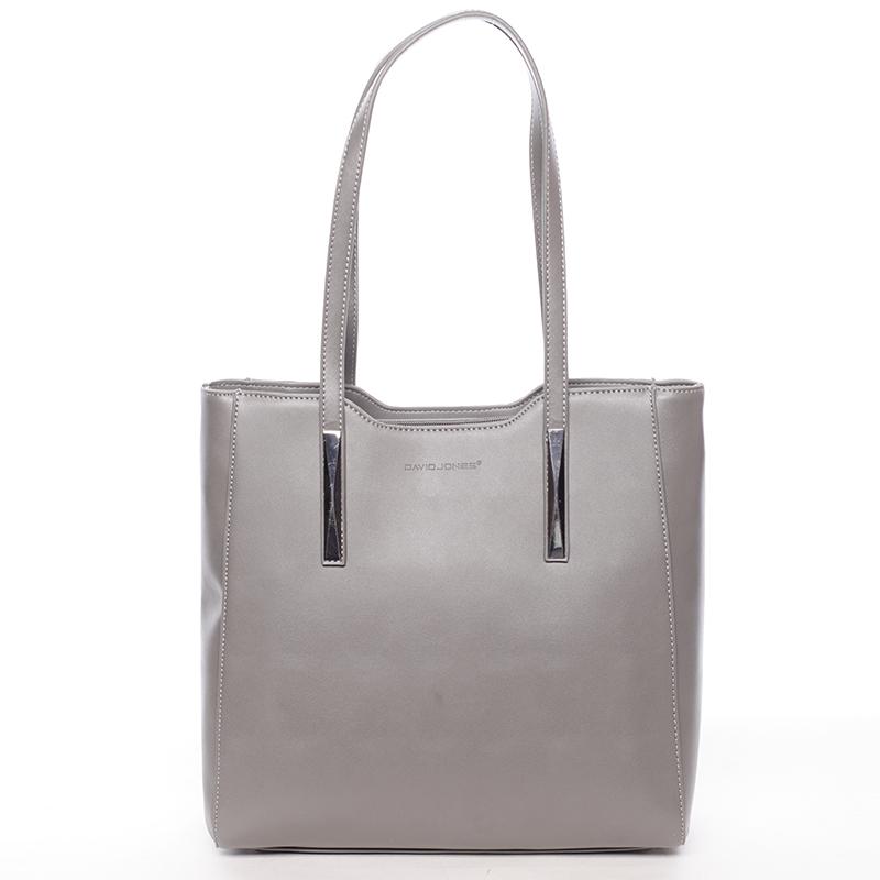 Elegantní šedá dámská kabelka přes rameno - David Jones Cornelina