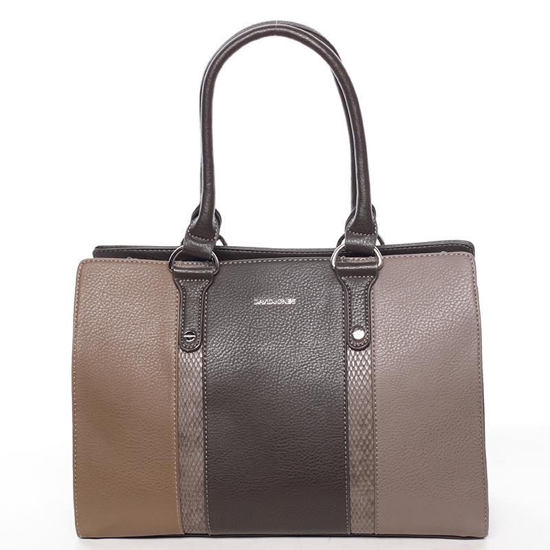 Luxusní dámská kabelka do ruky hnědá - David Jones Hezeka