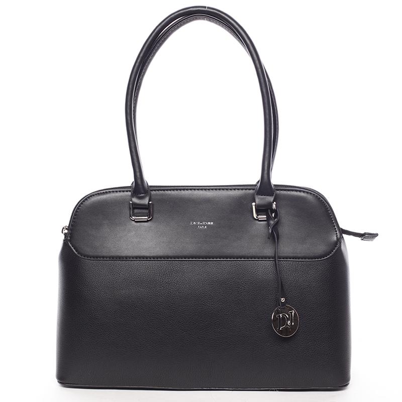 Originální větší dámská kabelka do ruky černá - David Jones Tallianoa