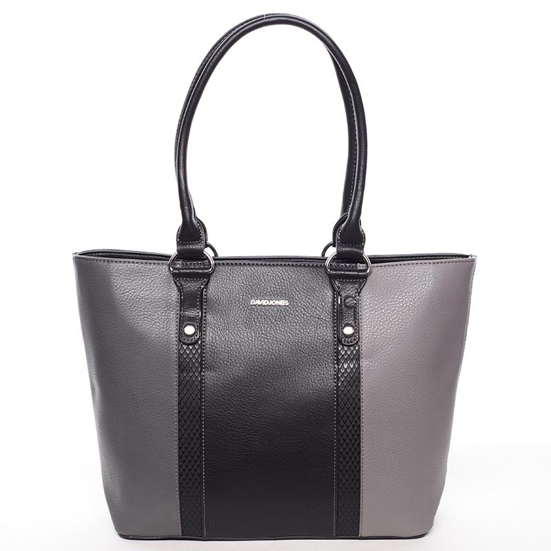 Luxusní dámská kabelka přes rameno černošedá - David Jones Habeka
