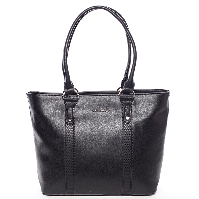 Luxusní dámská kabelka přes rameno černá - David Jones Habeka