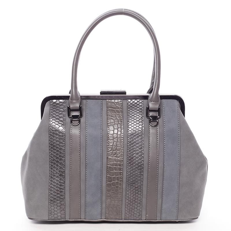 Luxusní tmavě šedá dámská kabelka do ruky - David Jones Jannas