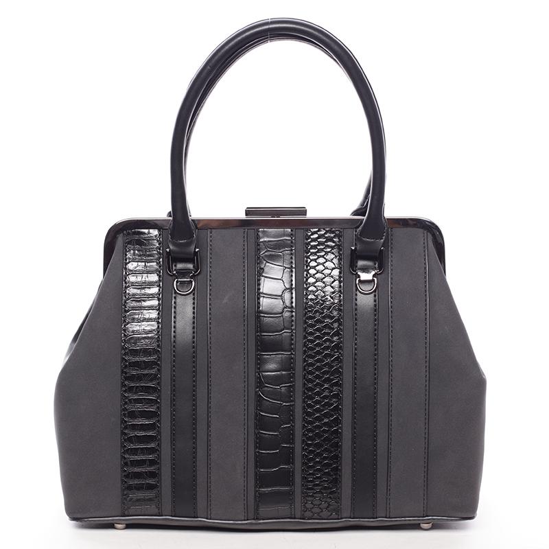 Luxusní černá dámská kabelka do ruky - David Jones Jannas