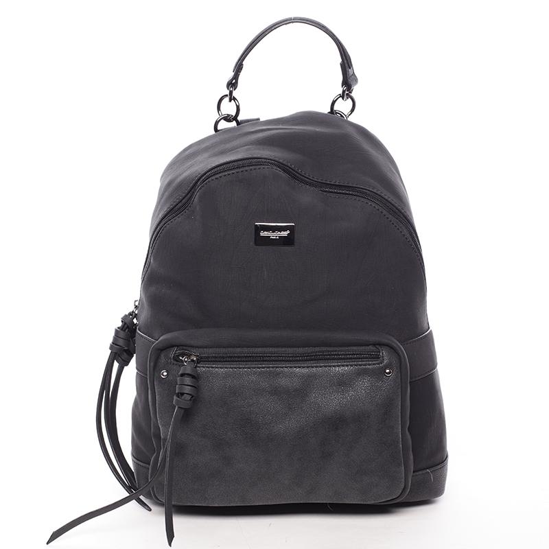 Dámský větší módní batoh černý - David Jones Laos