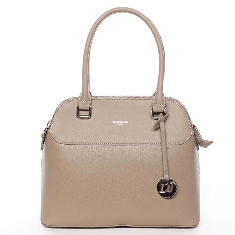 Originální jemná dámská kabelka do ruky khaki - David Jones Tilianna