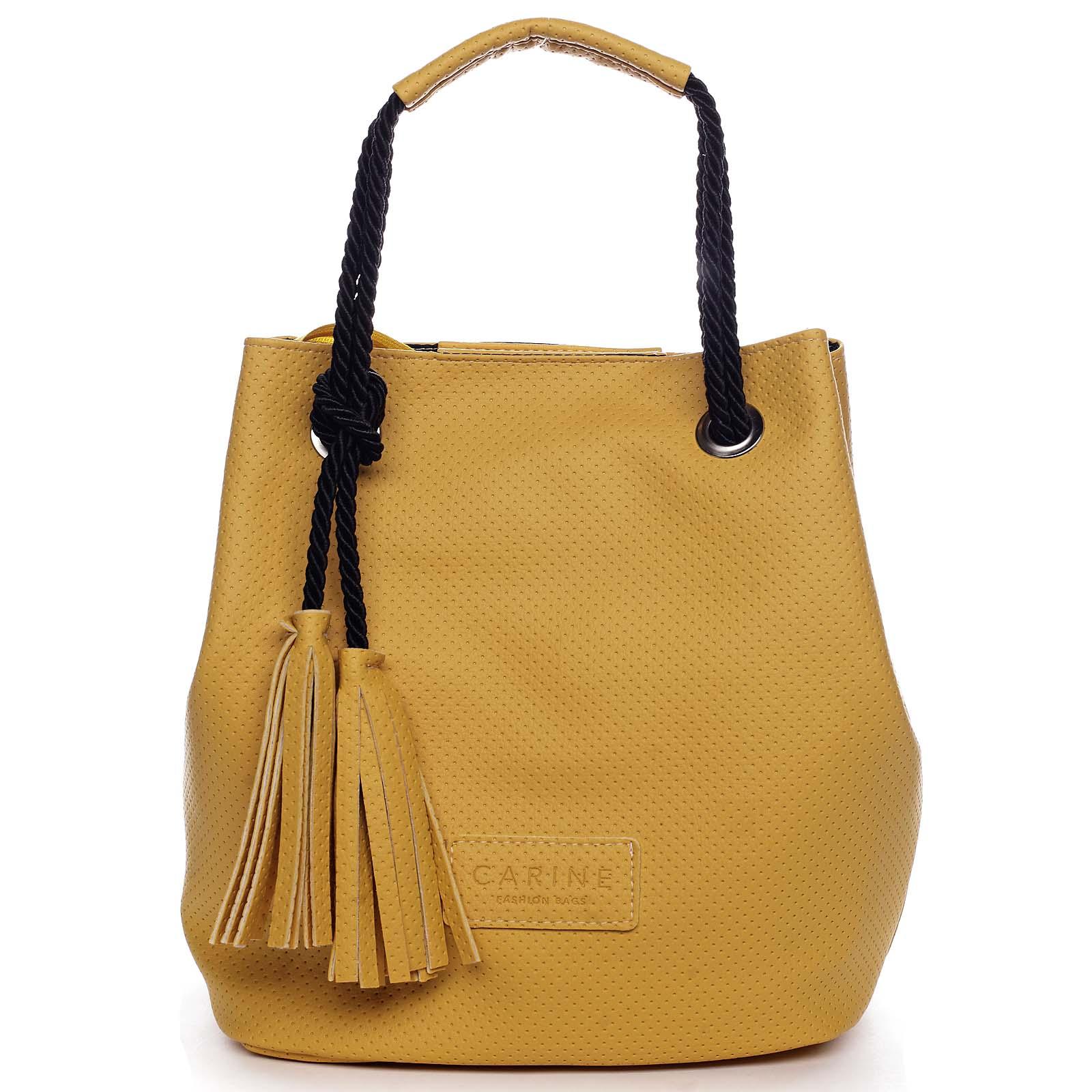 Dámská kabelka žlutá - Carine C2000