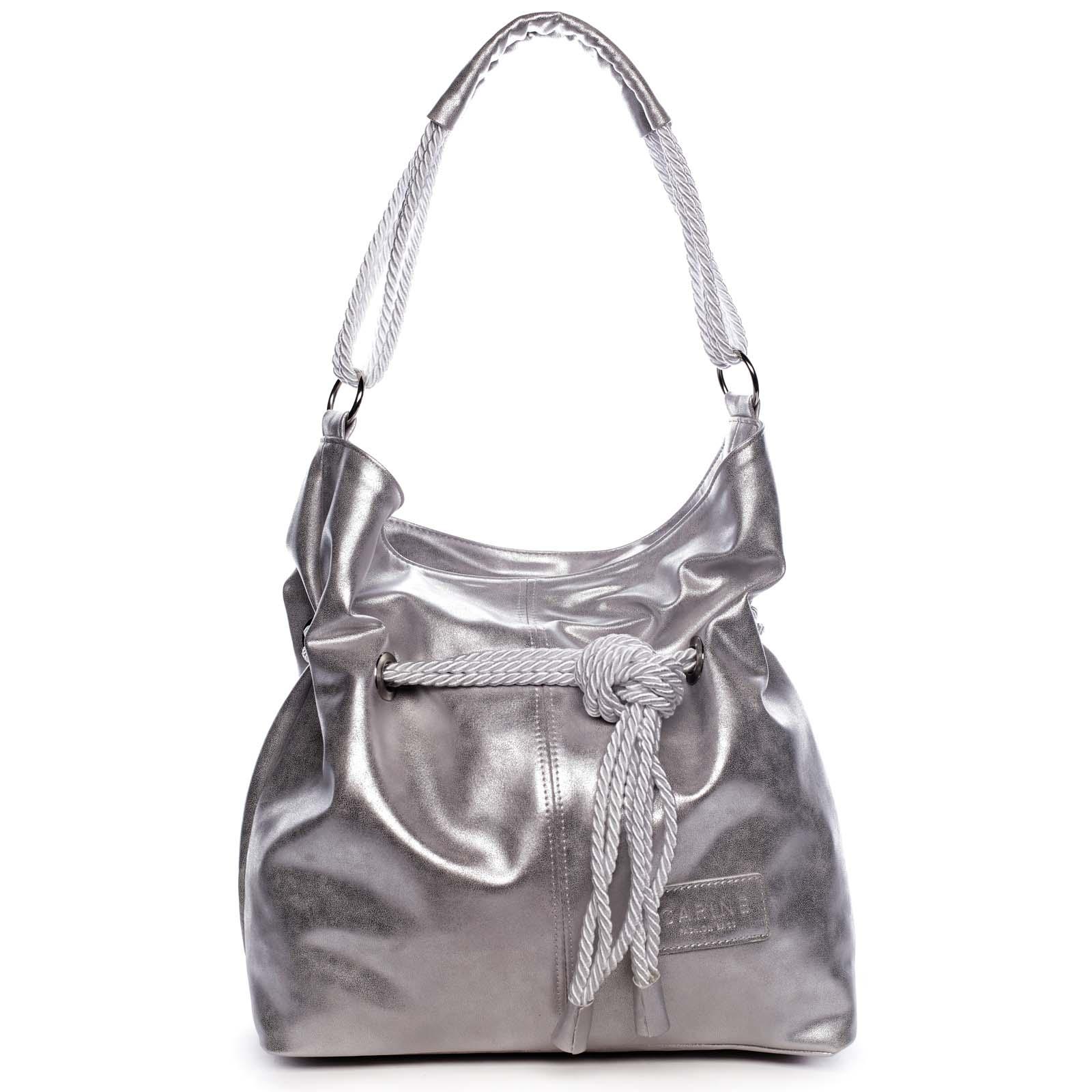 Dámská kabelka stříbrná - Carine C1000