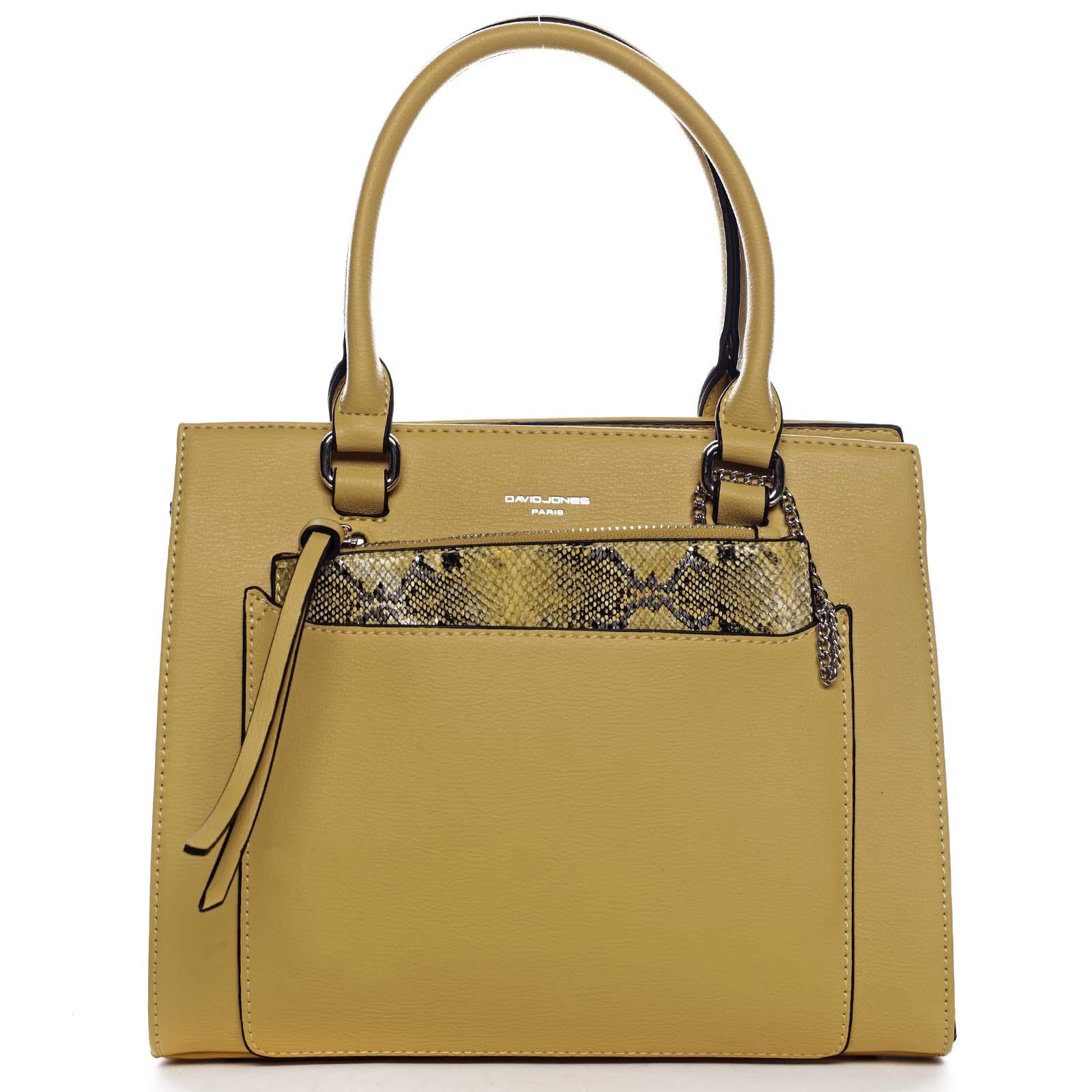Exkluzivní dámská kabelka žlutá - David Jones Joan