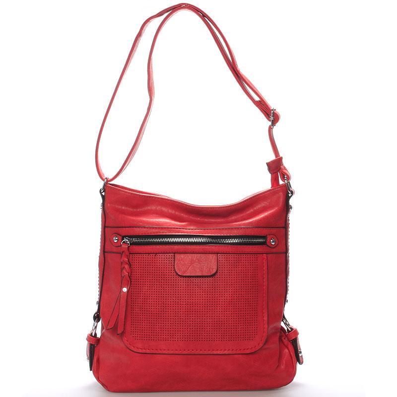 Dámská crossbody kabelka červená - Delami Estelle