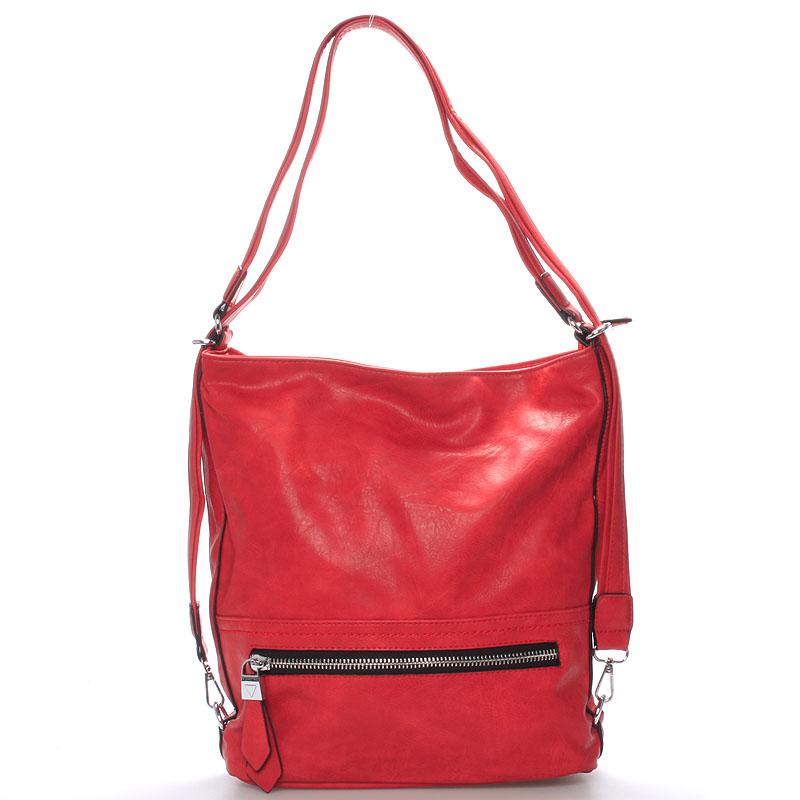 Dámská crossbody kabelka červená - Delami Francina