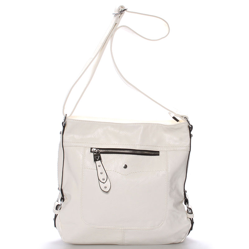 Dámská crossbody kabelka bílá - Delami Vivienne