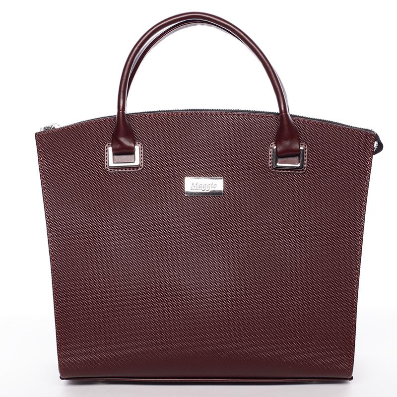 Dámská luxusní kabelka vínová saffiano - Delami Florida