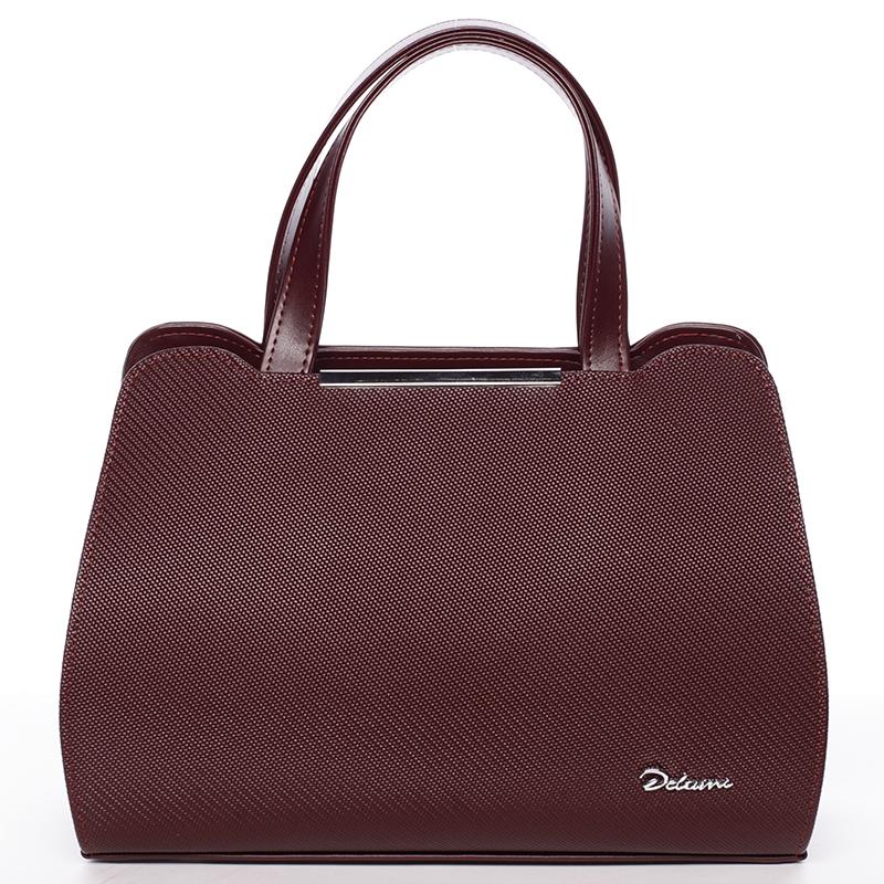 Dámská elegantní kabelka do ruky vínová - Maggio Helene