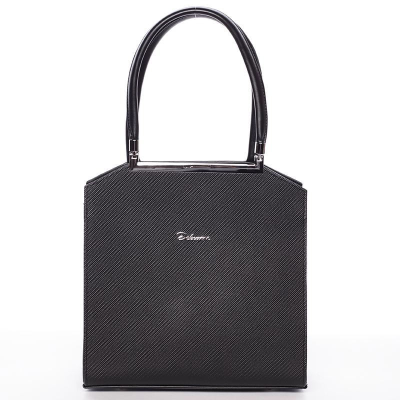 Dámská kabelka do ruky černá se stříbrným kováním - Delami Chereen