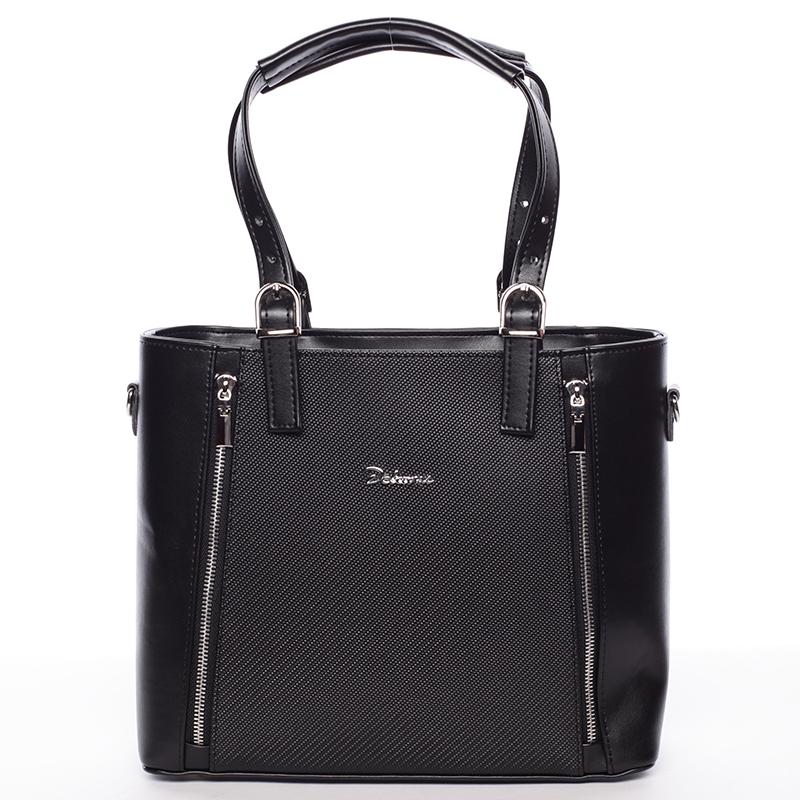 Dámská kabelka černá matná se vzorem - Delami Nicole