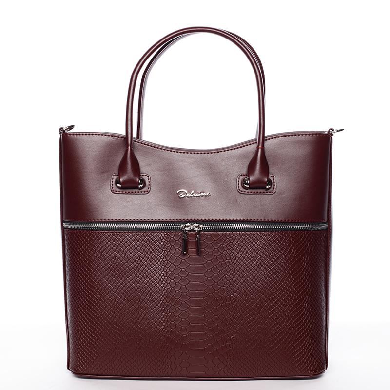 Luxusní dámská kabelka vínová - Delami Veronica