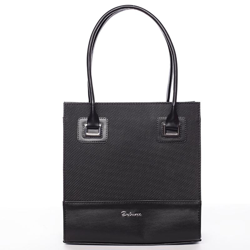 Dámská luxusní kabelka černá se vzorem - Delami Claudine