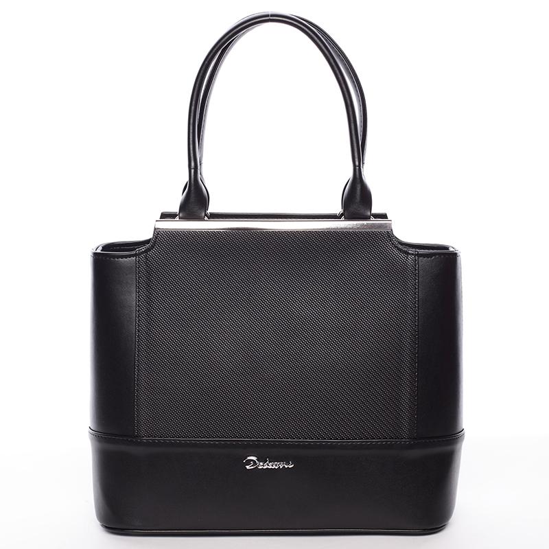 Dámská luxusní kabelka matná černá - Delami Magnolia