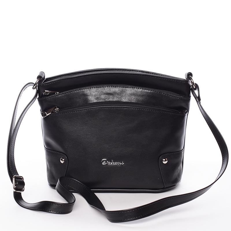 Originální crossbody kabelka černá - Delami Lealia