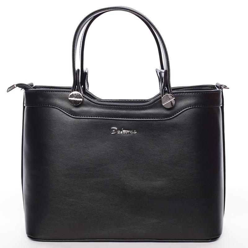 Elegantní matná černá dámská kabelka do ruky - Delami Iriana