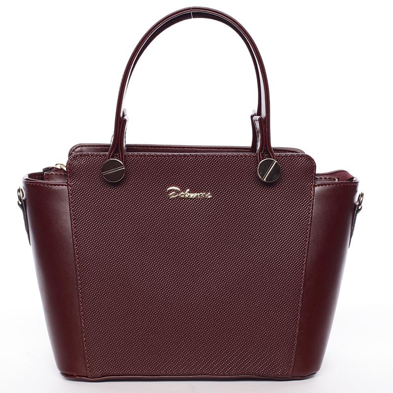Exkluzivní dámská kabelka do ruky tmavá vínová - Delami Jacintha