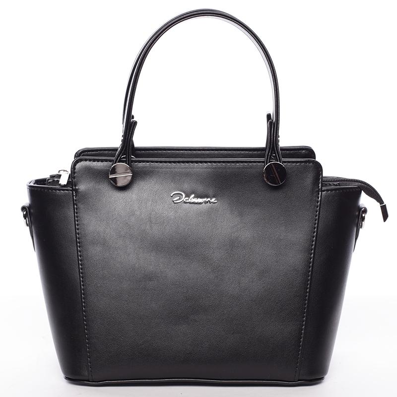 Exkluzivní dámská kabelka do ruky černá - Delami Jacintha