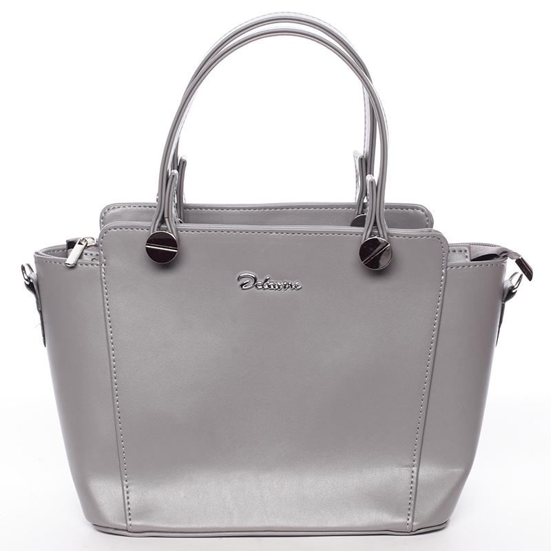 Exkluzivní dámská kabelka do ruky šedá - Delami Jacintha