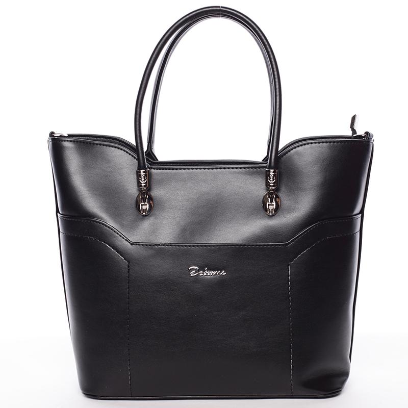 Dámská luxusní kabelka přes rameno černá - Delami Amalia