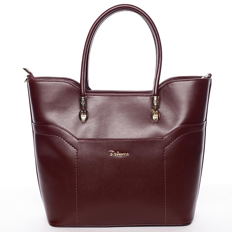Dámská luxusní kabelka přes rameno vínová - Delami Amalia