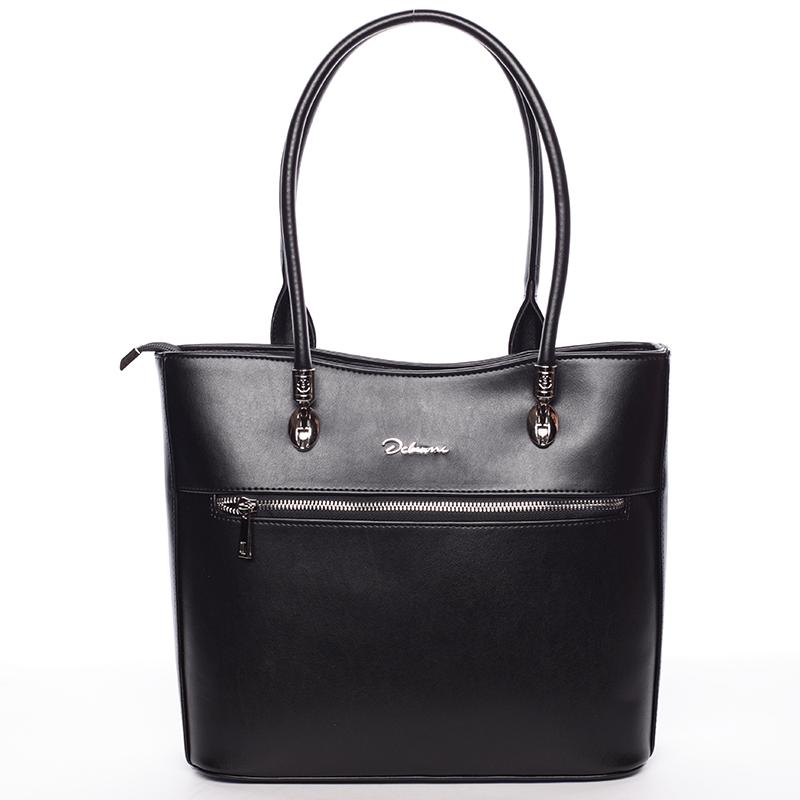Dámská luxusní černá matná kabelka - Delami Belén