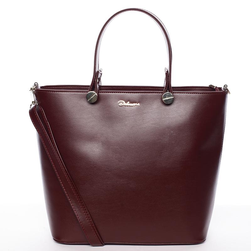 Luxusní vínová dámská kabelka - Delami Chantal
