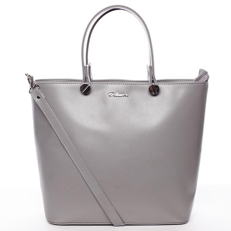 Luxusní šedá dámská kabelka - Delami Chantal
