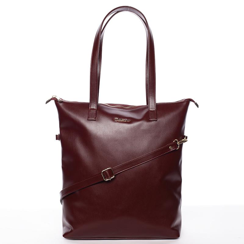 Vysoká dámská elegantní kabelka přes rameno vínová - Delami Ilithya