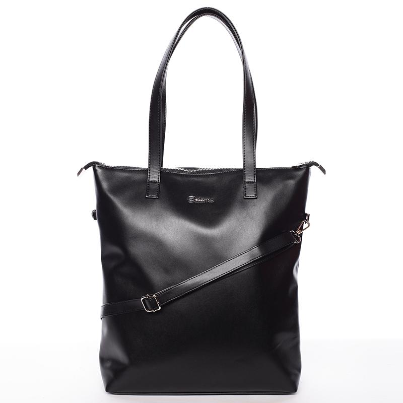 Vysoká dámská elegantní kabelka přes rameno černá - Delami Ilithya