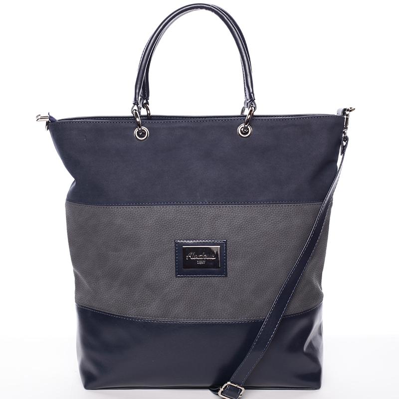 Dámská elegantní kabelka přes rameno tmavě modro šedá - Delami Patricia