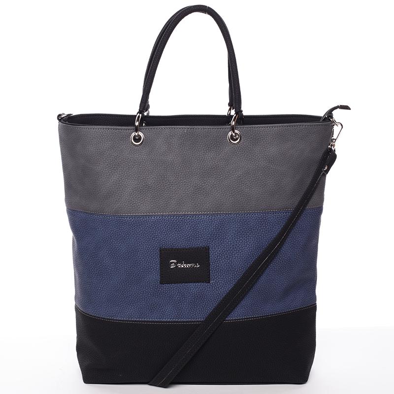 Dámská elegantní kabelka šedo modro černá - Delami Patricia